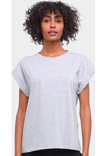 Camiseta Forum Básica Lisa Feminina - Feminino-Mescla