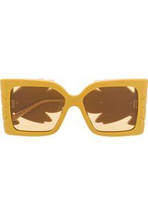 Gucci Eyewear Square Frame Sunglasses - Amarelo