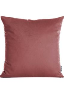 Capa Para Almofada Velvet- Laranja Escuro- 45X45Cm