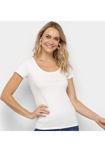 Blusa Calvin Klein Estampada Manga Curta Feminina - Feminino