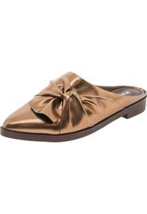 Sapato Feminino Mule Bronze Piccadilly - 725022