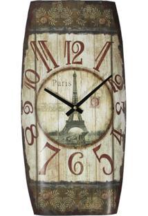 Relógio Kasa Ideia De Parede Paris - Tricae