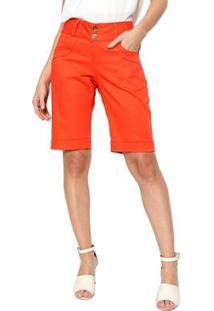 Bermuda Energia Fashion Feminina - Feminino-Laranja