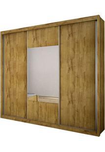 Guarda Roupa Arezzo Gold 3 Portas Com Espelho Freijo Dourado