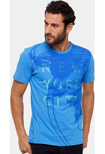 Camiseta Calvin Klein Estampa Nyc Masculina - Masculino-Azul Turquesa