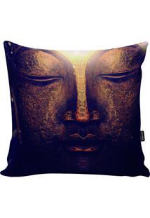 Capa De Almofada Buda - Preta & Dourada - 45X45Cm
