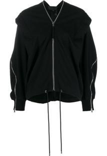 Diesel Black Gold Suéter Listrado Com Zíper - Preto
