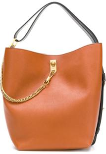 Givenchy Bolsa Bucket 'Gv' Em Couro - Marrom