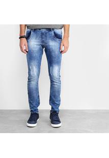 Calça Jeans Skinny Local Masculina - Masculino-Azul