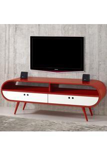 Rack Para Tv 2 Gavetas Dream 620 Vermelho/Branco - Maxima