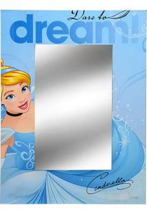 Espelho Cinderela - Espelhado & Azul - 40X30X1Cmmabruk