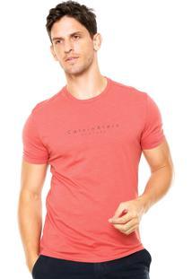 Camiseta Calvin Klein Reta Laranja