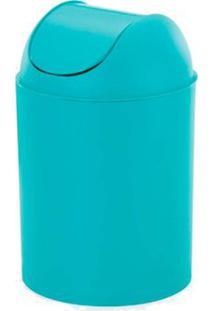 Lixeira Basculante 5 Litros Com Tampa Azul Arthi