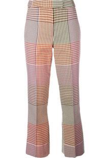 Rosie Assoulin Calça Xadrez Cropped - Marrom