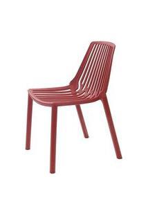 Cadeira Morgana Polipropileno Cor Vermelho Telha - 29781 Preto