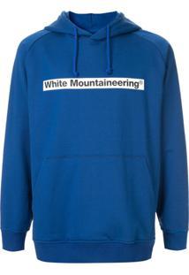 White Mountaineering Moletom Com Logo E Capuz - Azul