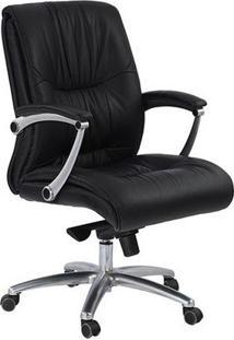 Cadeira Diretor Will Pvc/Couro Natural Preto Etna