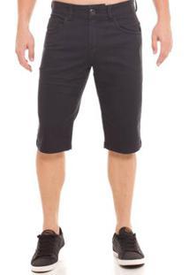 Bermuda Jeans Osmoze Middle Plus Masculina - Masculino-Preto