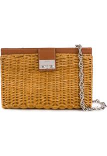 Rodo Woven Basket Bag - Marrom