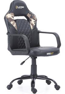 Cadeira Gamer 350Gt X10 Design Moderno Modelo Ergonã´Mico Jogos Eletrã´Nicos Confortã¡Vel Camouflage - Preto - Dafiti