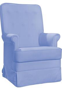 Poltrona De Amamentação Laura Botonê Corino Azul Claro K-1090 D'Rossi - Phoenix