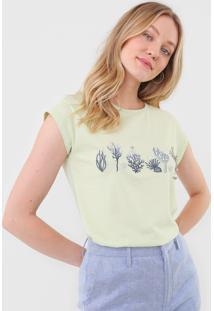 Camiseta Lez A Lez Bordada Verde