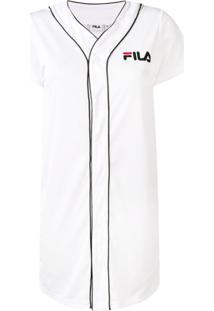 5ec68e0ed Fila Vestido De Jersey Com Logo - Branco