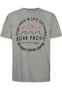 Camiseta Ocean Pacific The Original Masculina - Masculino-Cinza