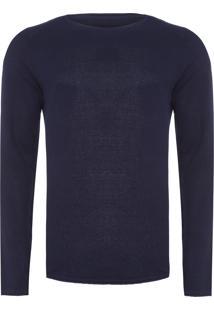 Suéter Masculino Gola Careca - Azul