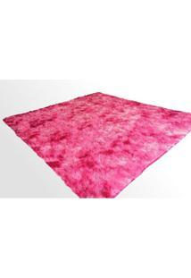 Tapete Saturs Shaggy Pelo Alto Mesclado Rosa - 120 X 200 Cm Tapete Para Sala E Quarto