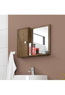 Espelheira Para Banheiro Móveis Bechara Gênova Madeira Rústica