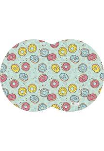 Tapete Pet Mdecore Geométrico Donut Verde 54X39Cm