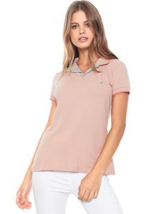 Camisa Polo Malwee Listra Rosa