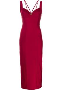 Fausto Puglisi Fitted Bustier Dress - Vermelho