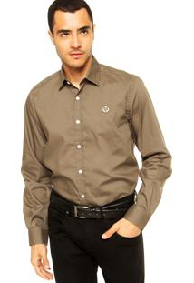 Camisa Forum Bordado Marrom