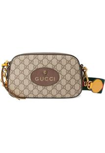 Gucci Messenger Bag Gg Supreme - Marrom