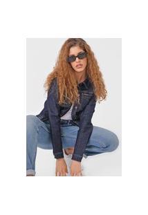 Jaqueta Jeans Calvin Klein Jeans Pespontos Azul