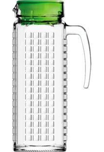 Jarra De Vidro Sture Móveis Ladrilhos Com Tampa Verde Para Suco 1,2 Litros