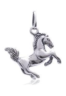 Pingente De Prata Cavalo Envelhecido