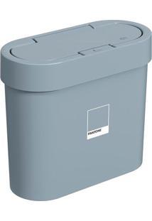 Lixeira Flat Com Tampa- Azul Pantone®- 2,8L- Bribrinox