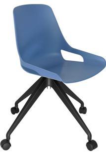Cadeira De Cozinha Giratória Beau Azul E Preta