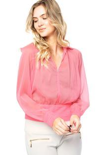 Camisa Lança Perfume Recortes Rosa