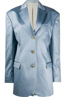 Acne Studios Blazer Com Abotoamento Simples - Azul