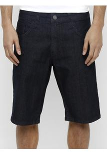 Bermuda Jeans Colcci Lavagem Super Escura - Masculino