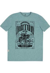 Camiseta Em Malha De Algodão Regular Com Textura Especial