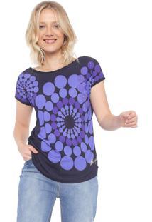 Camiseta Desigual Geométrica Azul