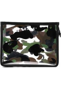 A Bathing Ape® Porta-Moedas Camuflado 1St Camo - Preto