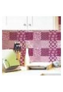 Papel De Parede Autocolante Rolo 0,58 X 5M - Azulejo Floral 284996810
