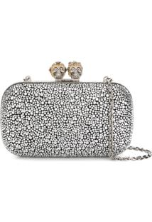 Alexander Mcqueen Clutch King Queen - Prateado