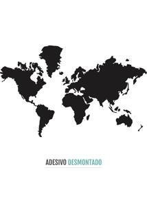 Adesivo Decohouse De Parede World Preto